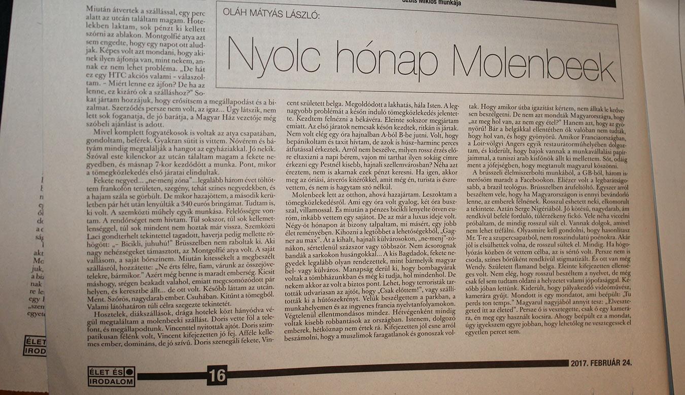 Nyolc hónap Molenbeek